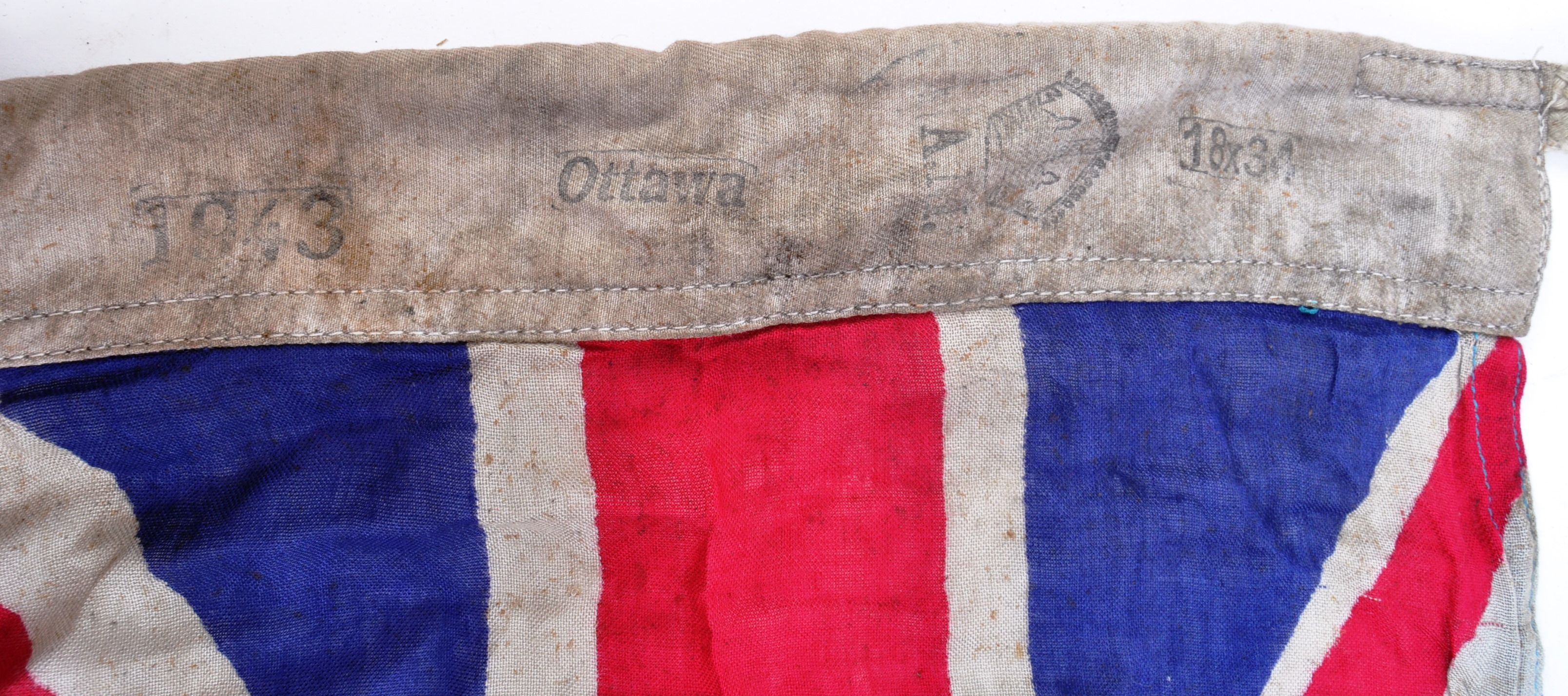WWII SECOND WORLD WAR TYPE RCAF CANADIAN AIR FORCE BASE FLAG - Image 4 of 7