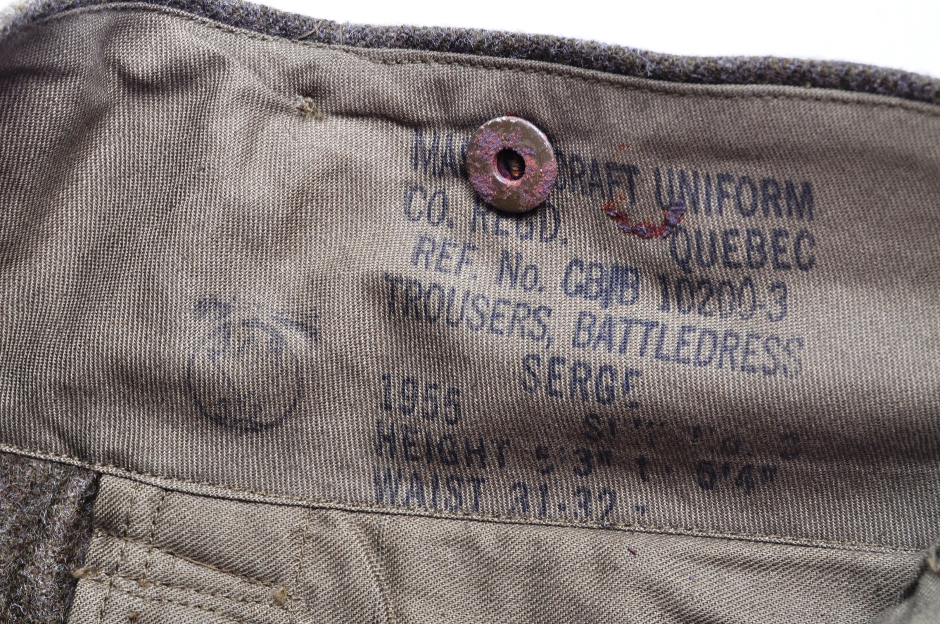 WWII SECOND WORLD WAR INTEREST - BRITISH ARMY TROUSERS - Image 2 of 7