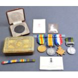 WWI FIRST WORLD MEDAL GROUP - CORPORAL IN 10TH HUSSARS
