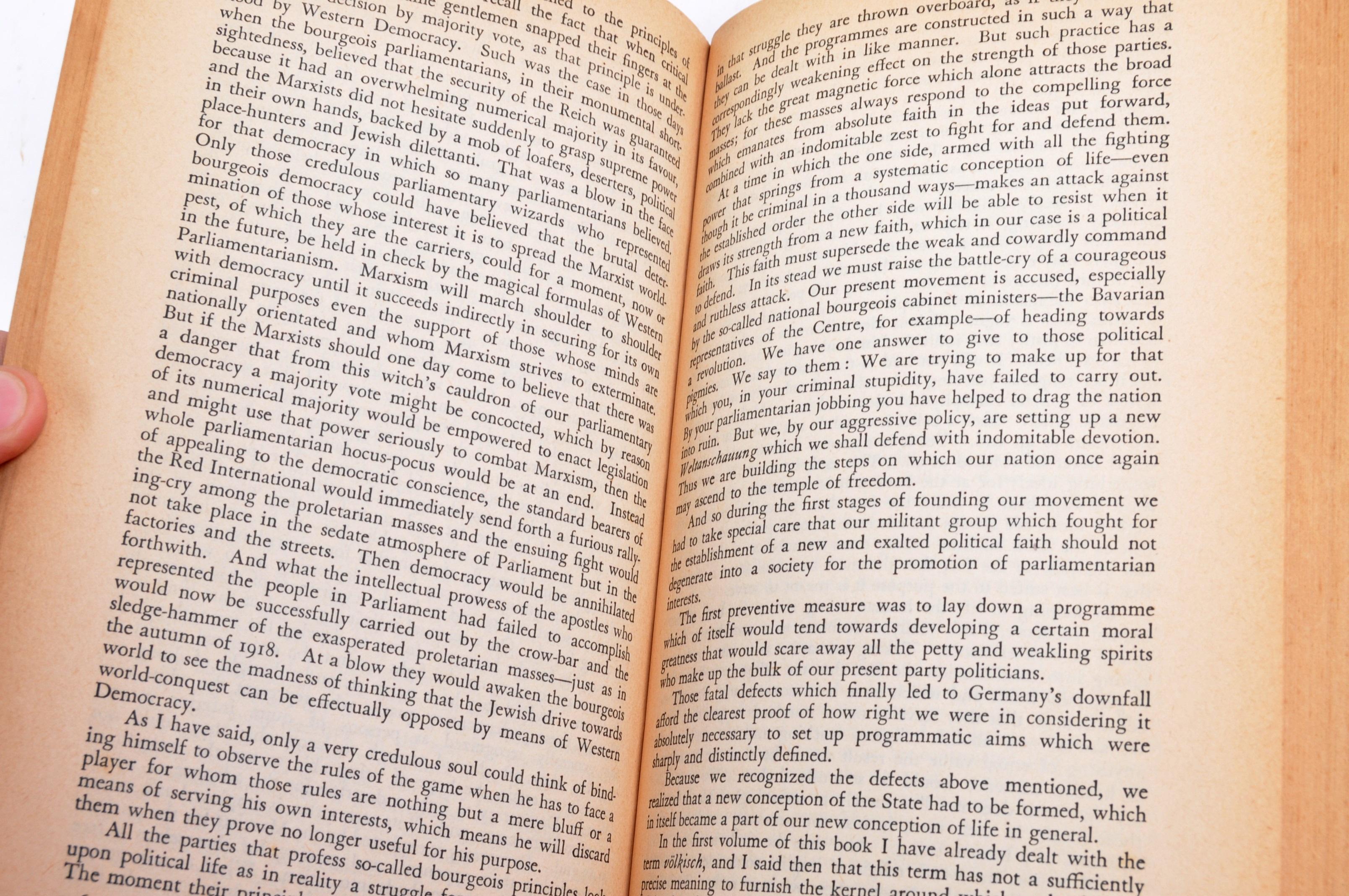 ADOLF HITLER - MEIN KAMPF - 1ST ENGLISH EDITION 1939 - Image 6 of 9