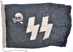 WWII SECOND WORLD WAR RELATED GERMAN SS RECOGNITION FLAG