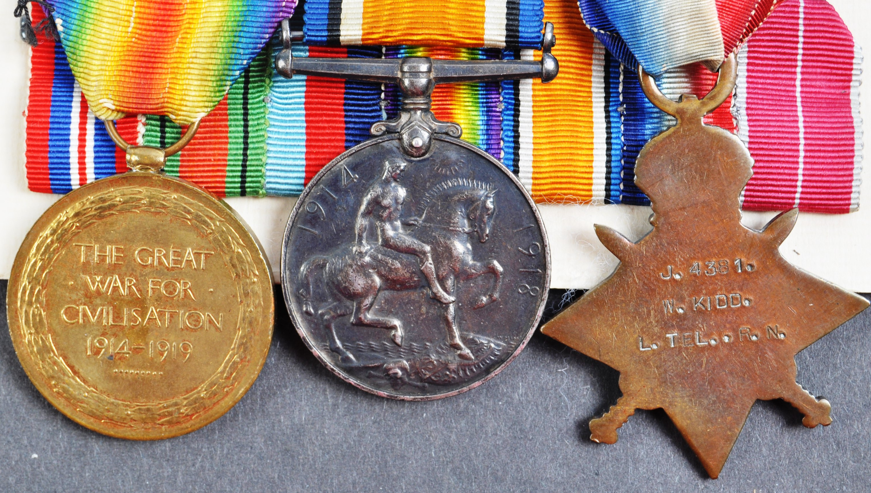 WWI & WWII SECOND WORLD WAR MEDAL GROUP - ROYAL NAVY - Image 2 of 5