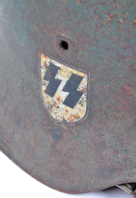 WWII SECOND WORLD WAR GERMAN THIRD REICH M42 COMBAT HELMET - Image 2 of 5