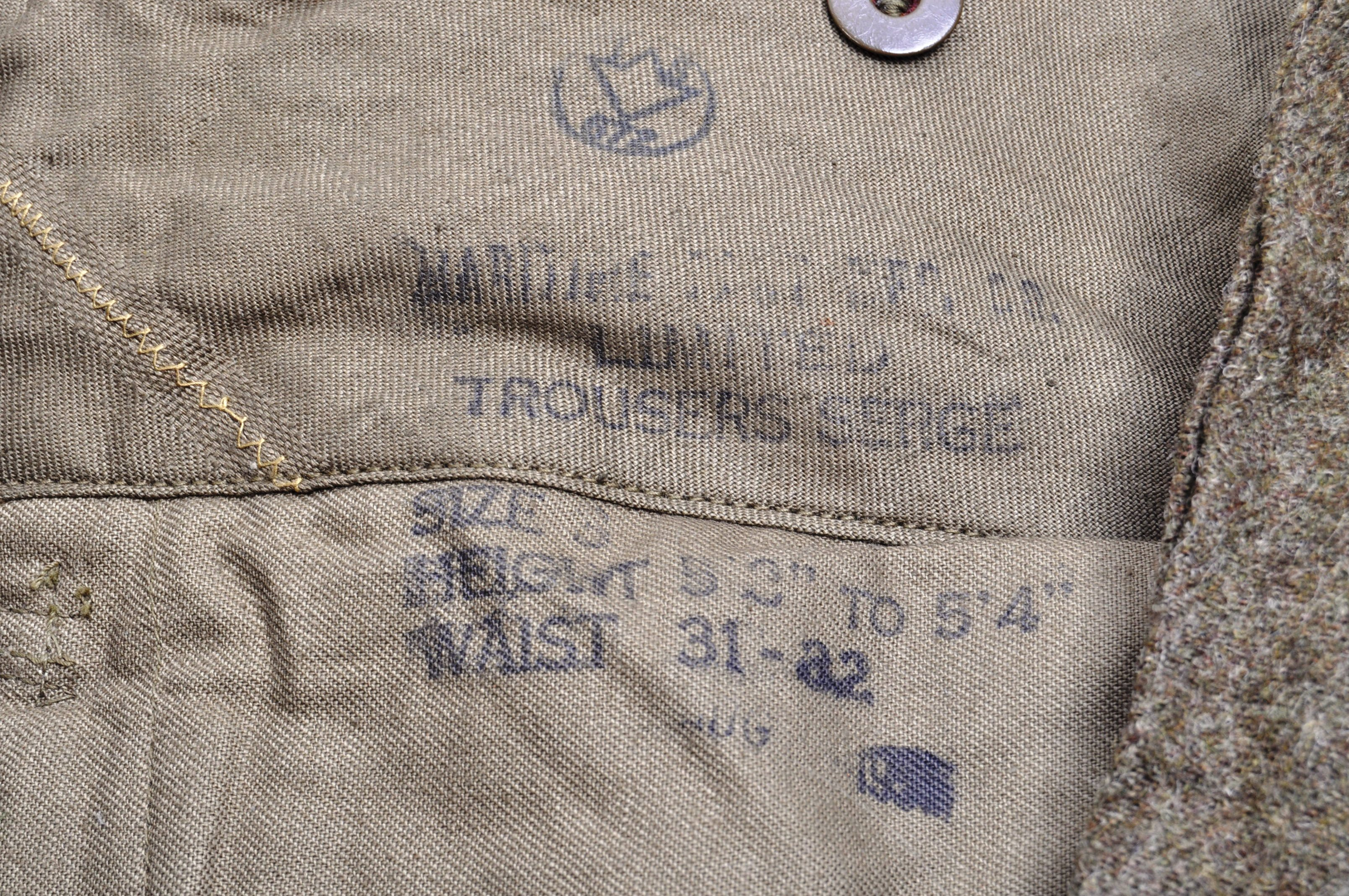 WWII SECOND WORLD WAR INTEREST - BRITISH ARMY TROUSERS - Image 3 of 7
