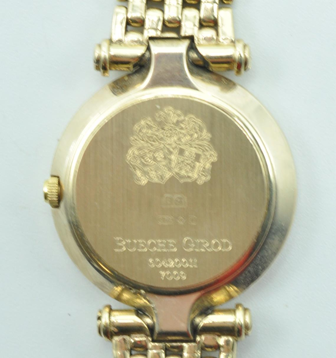 BUECHE GIROD 9CT GOLD AND DIAMOND WRIST WATCH - Image 8 of 8
