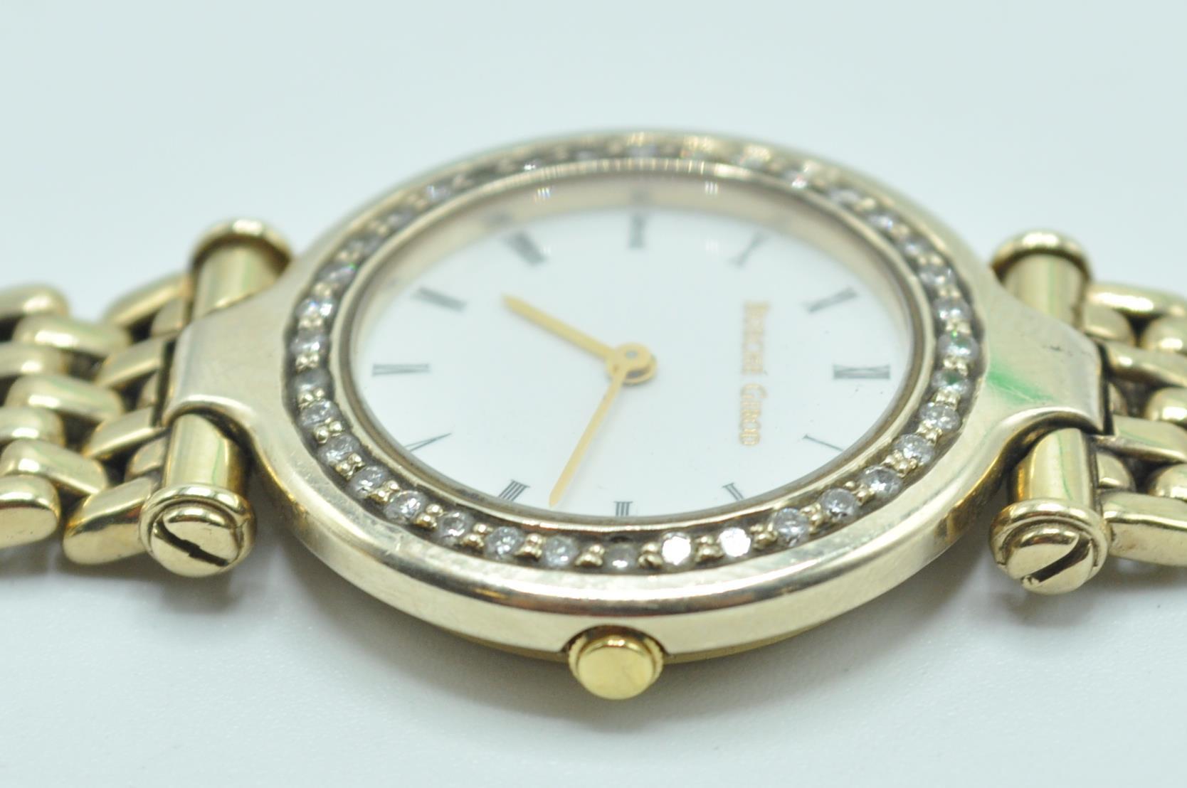 BUECHE GIROD 9CT GOLD AND DIAMOND WRIST WATCH - Image 7 of 8