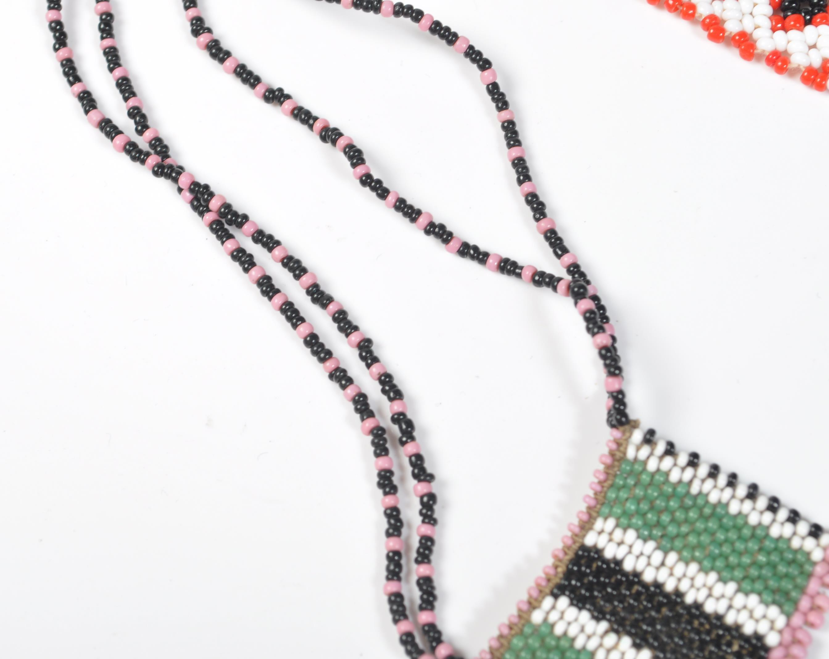 COLLECTION OF ZULU AFRICAN AND NATIVE AMERCIAN JEWELLERY. - Image 8 of 9
