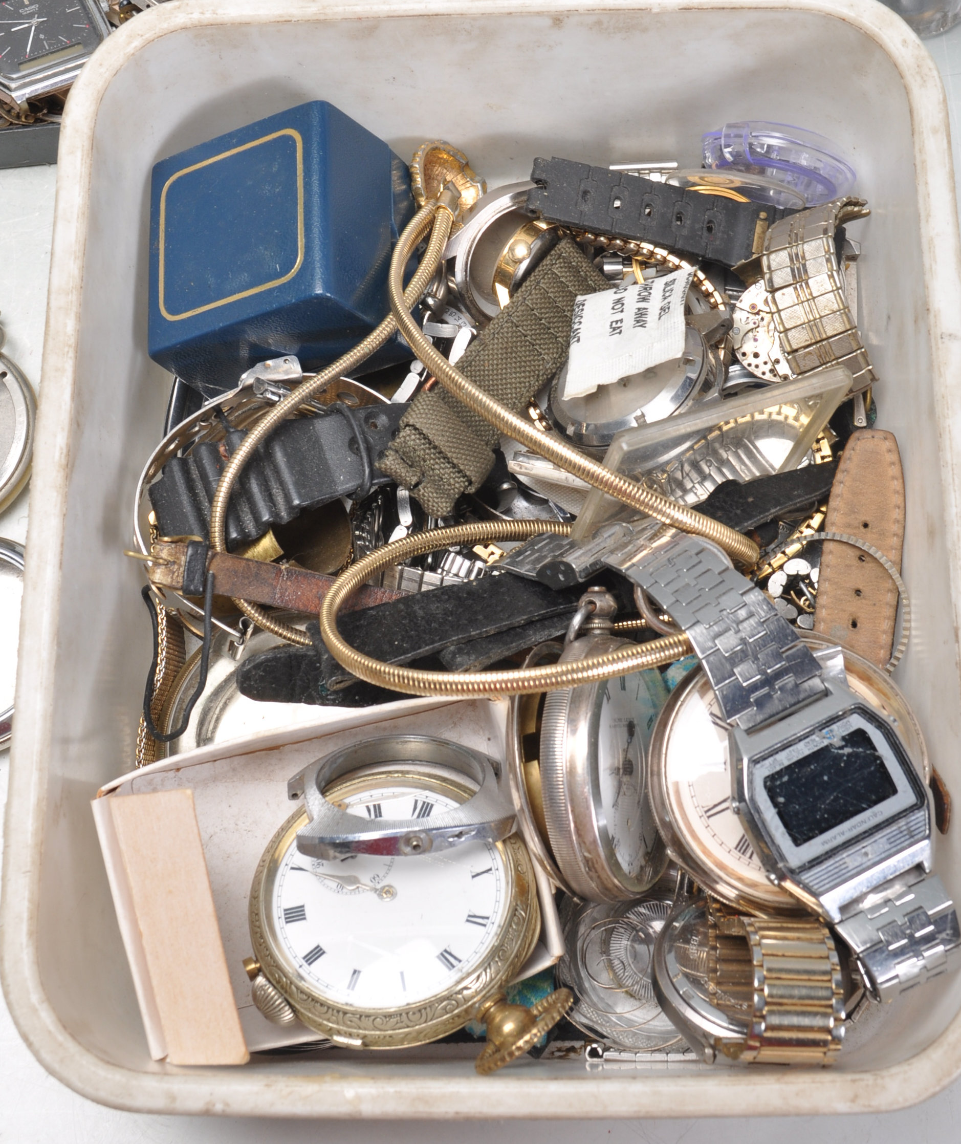 LARGE COLLECTION OF VARIOUS WATCH PARTS AND SPARES - Image 2 of 8