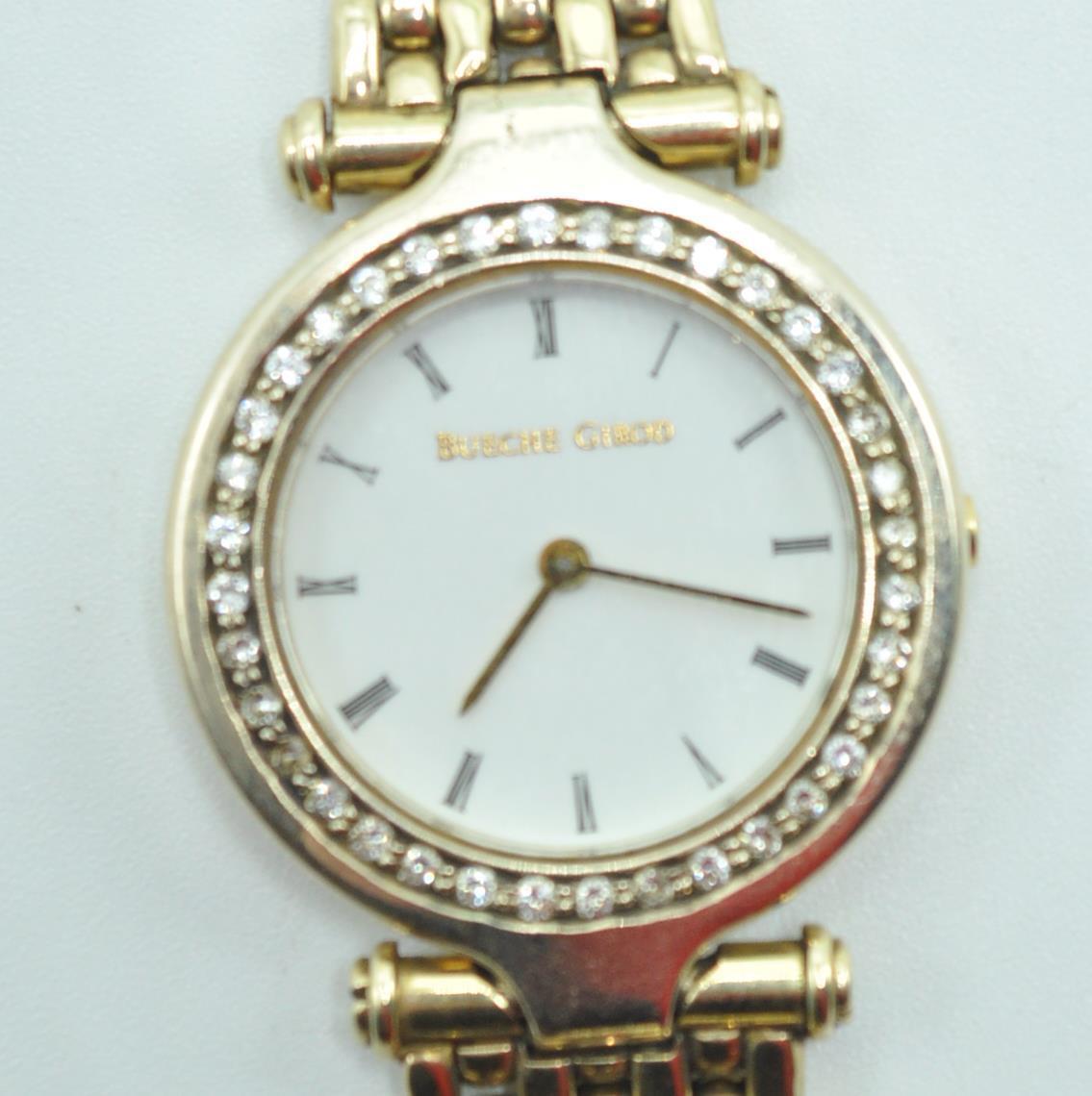 BUECHE GIROD 9CT GOLD AND DIAMOND WRIST WATCH - Image 2 of 8