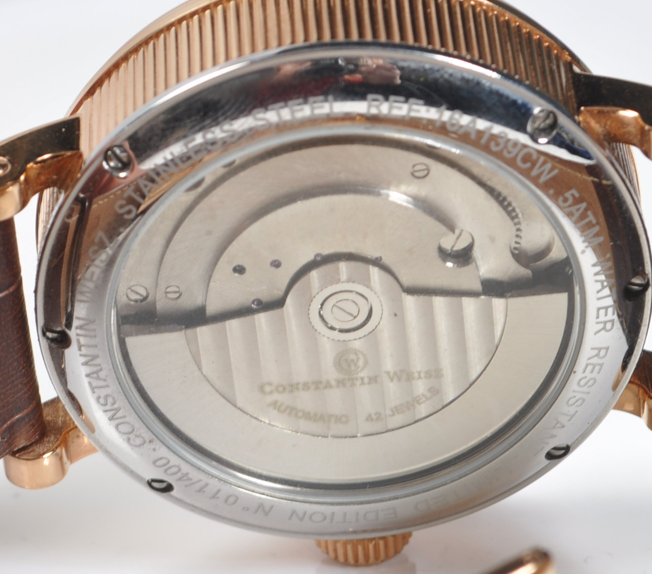 CONSTANTIN WEISZ DOUBLE HEART AUTOMATIC WRISTWATCH - Image 4 of 7