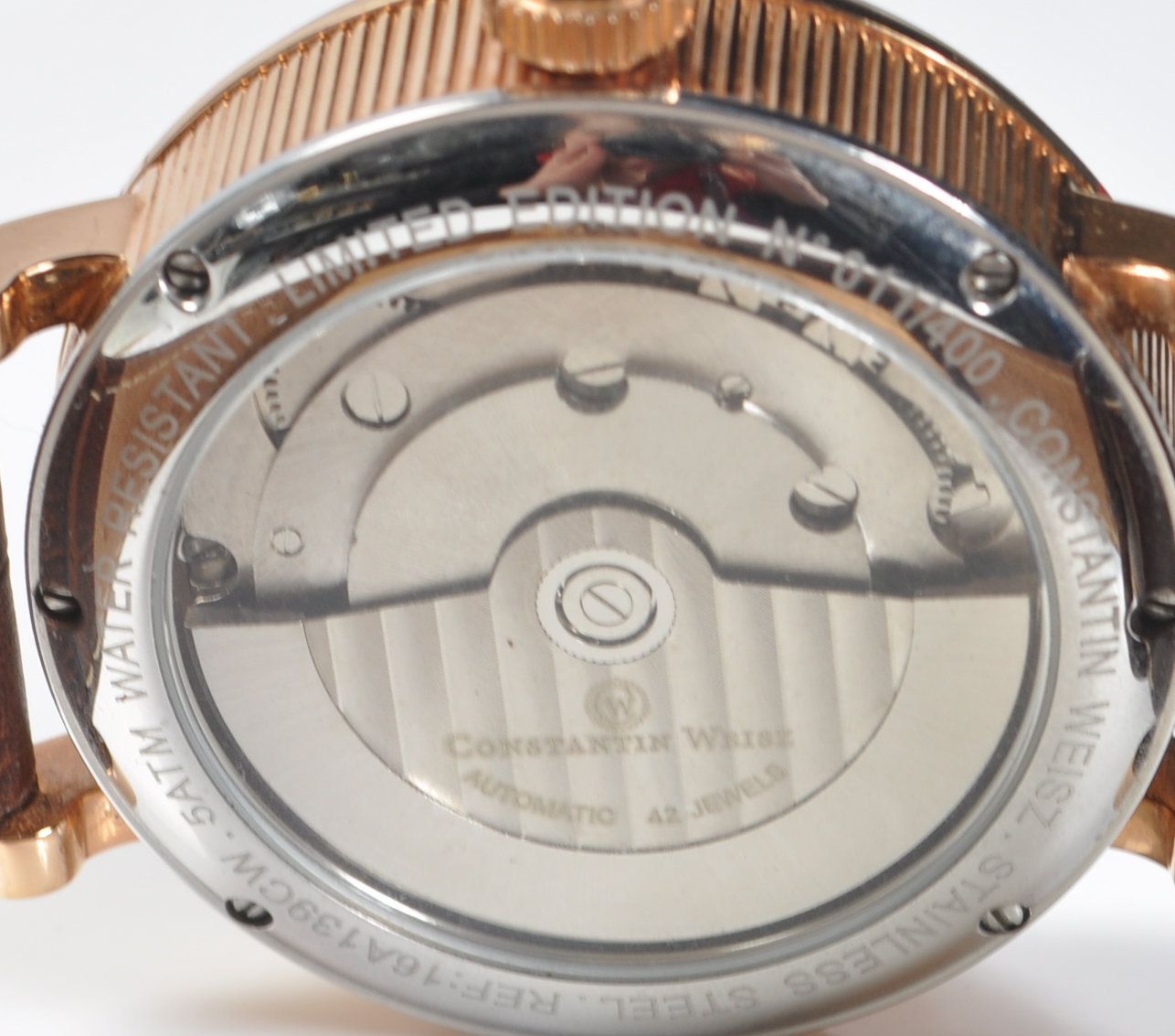 CONSTANTIN WEISZ DOUBLE HEART AUTOMATIC WRISTWATCH - Image 5 of 7