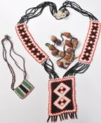 COLLECTION OF ZULU AFRICAN AND NATIVE AMERCIAN JEWELLERY.