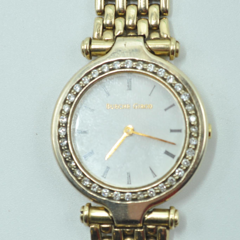 BUECHE GIROD 9CT GOLD AND DIAMOND WRIST WATCH - Image 3 of 8