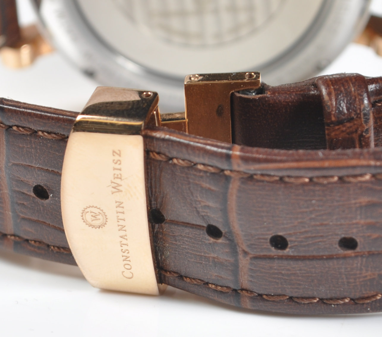 CONSTANTIN WEISZ DOUBLE HEART AUTOMATIC WRISTWATCH - Image 6 of 7