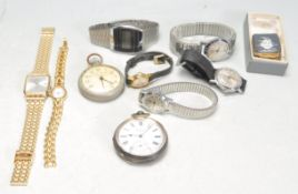 COLLECTION OF GENTS WRISTWATCHES AND POCKET WATCHES.