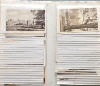 COLLECTION OF APPROX 80 EDWARDIAN POSTCARDS OF HAMPTON COURT PALACE
