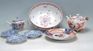 GROUP OF 19TH AND 20TH CENTURY JAPANESE AND CHINESE ORIENTAL CERAMIC PORCELAIN