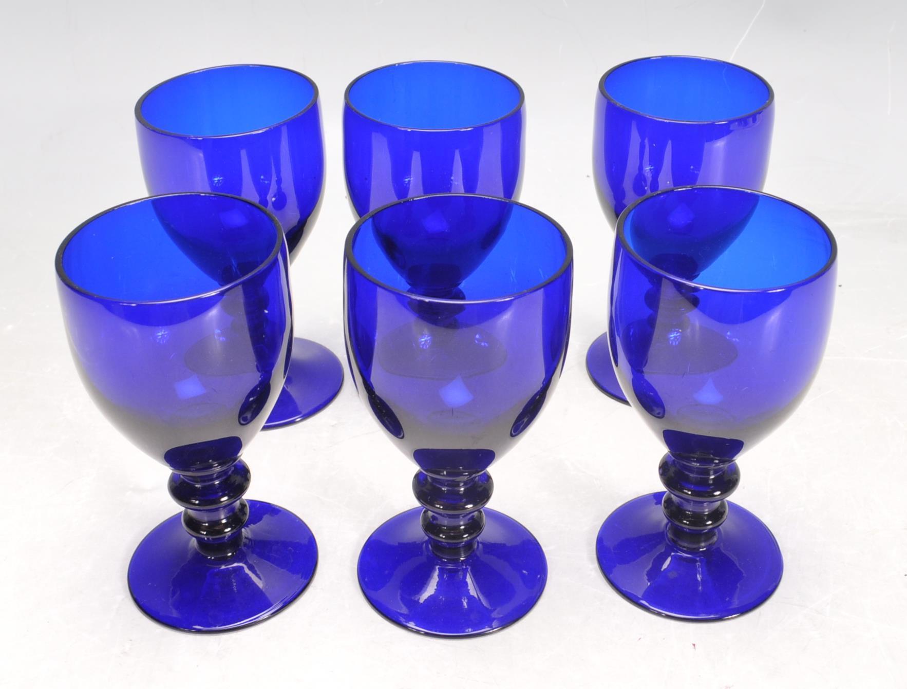 BRISTOL BLUE GLASS ORNAMENTS - Image 4 of 34