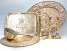 COLLECTION OF 20TH CENTURY BRASS ITEMS.