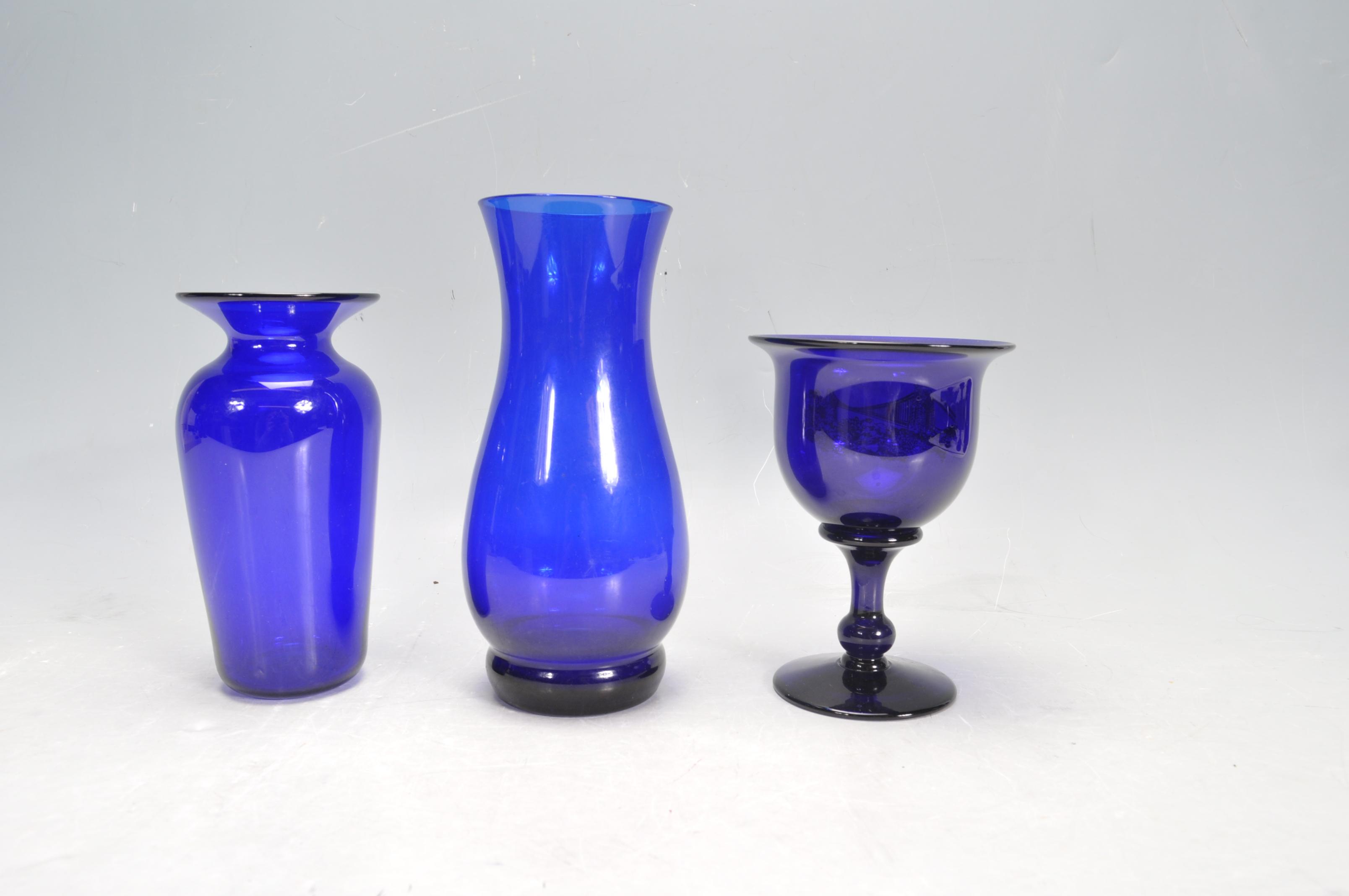 BRISTOL BLUE GLASS ORNAMENTS - Image 10 of 34