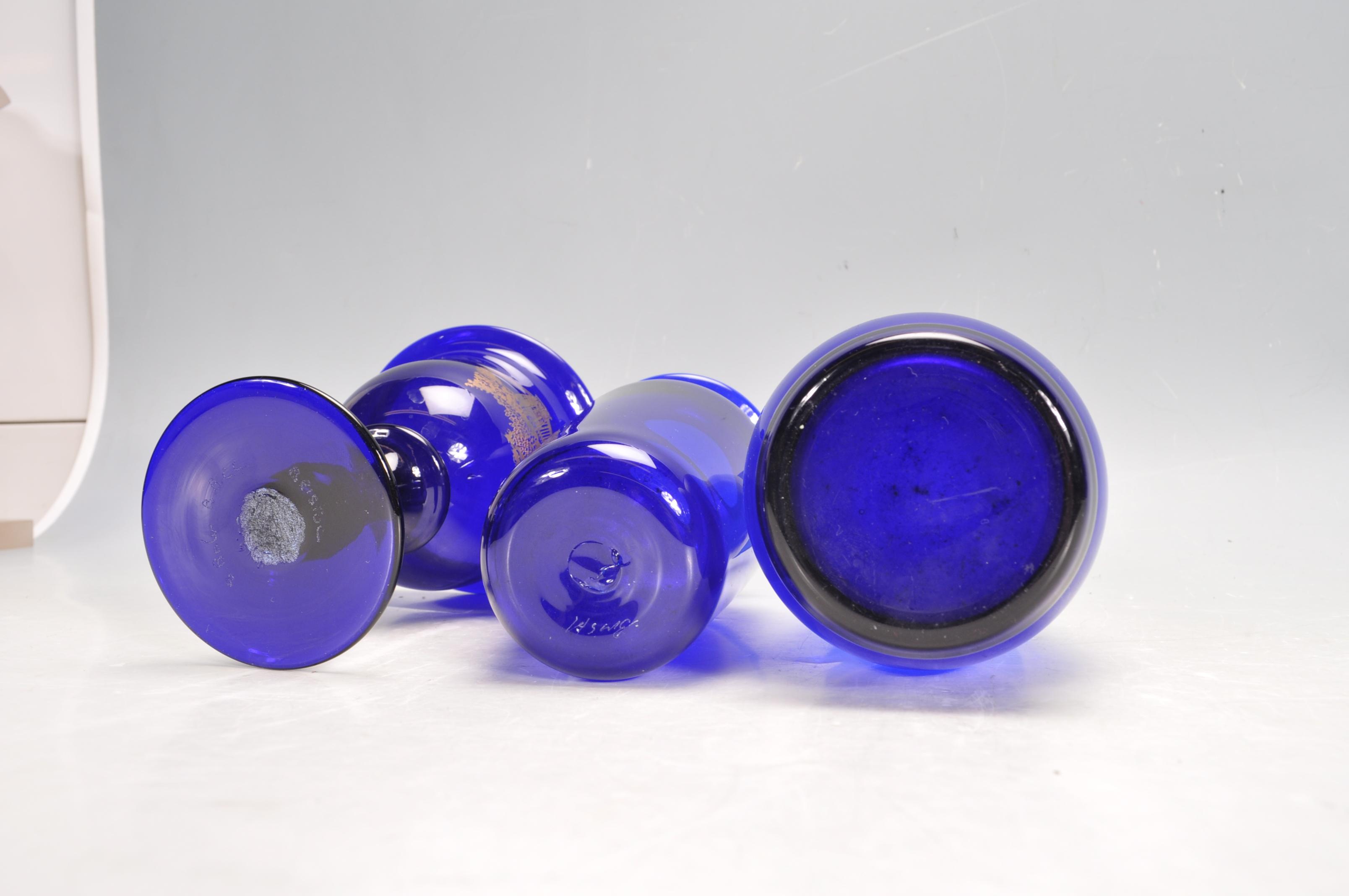 BRISTOL BLUE GLASS ORNAMENTS - Image 19 of 34
