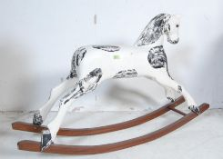 EARLY 20TH CENTURY WOODEN ROCKING HORSE