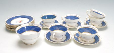 COLLECTION OF NEW CHELSEA STAFFORDSHIRE TEA SERVICE.