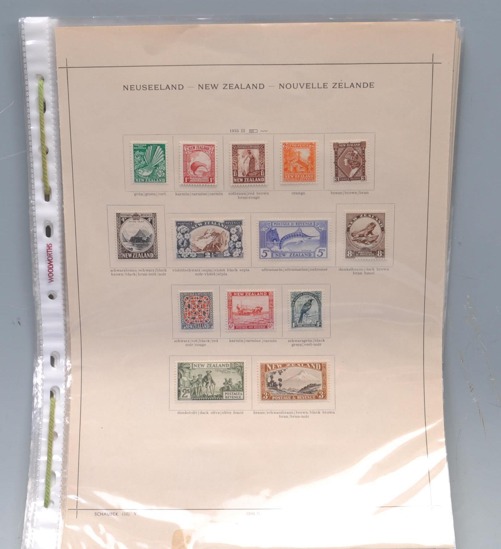 NEW ZEALAND MINT COLLECTION OF POSTAGE STAMPS