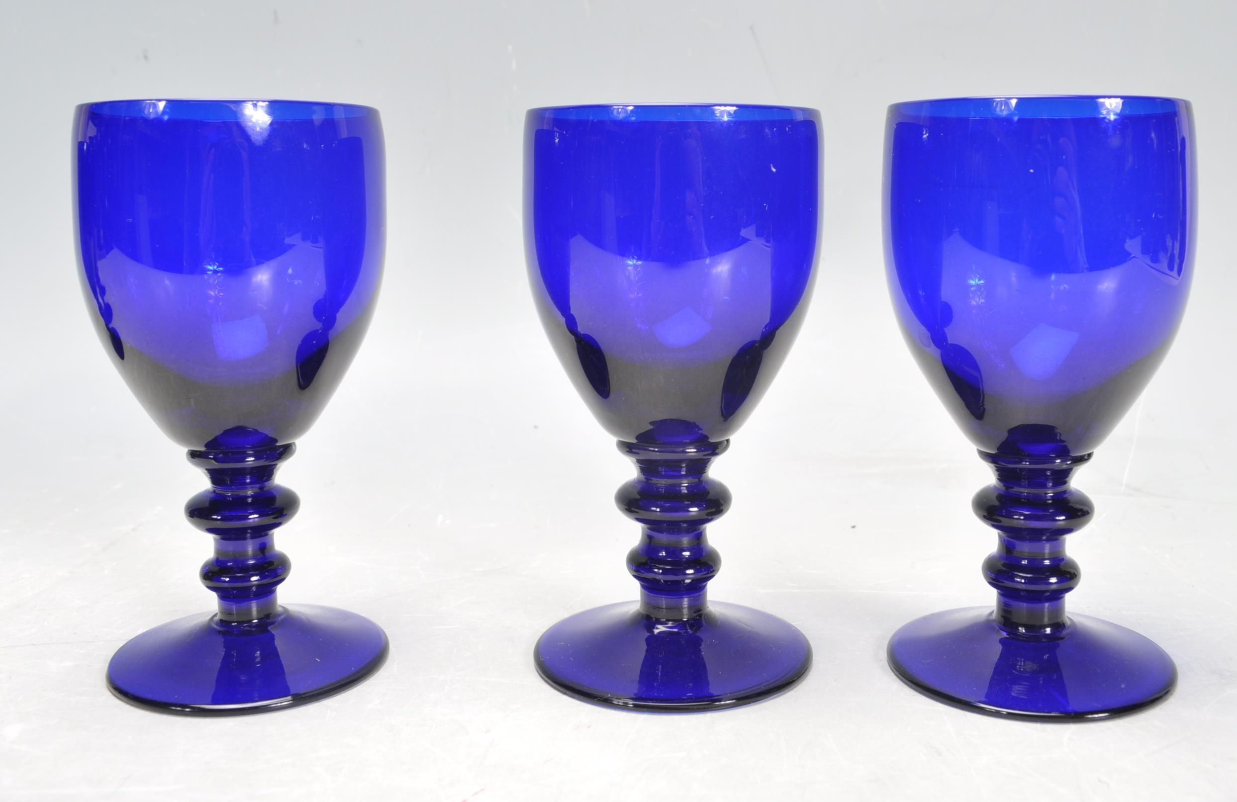 BRISTOL BLUE GLASS ORNAMENTS - Image 7 of 34