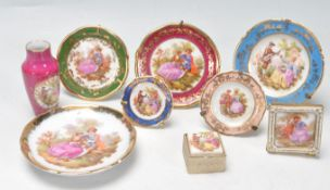 COLLECTION OF MINIATURE LIMOGES CERAMICS