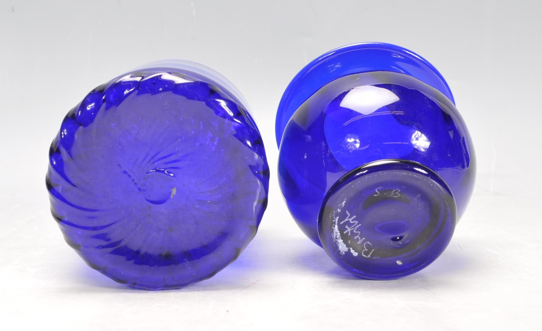 BRISTOL BLUE GLASS ORNAMENTS - Image 24 of 34