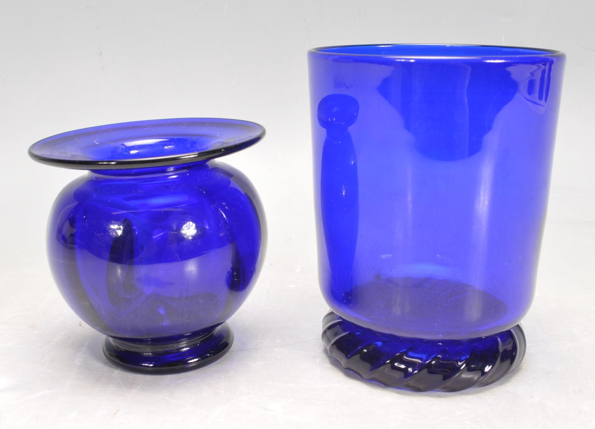 BRISTOL BLUE GLASS ORNAMENTS - Image 23 of 34