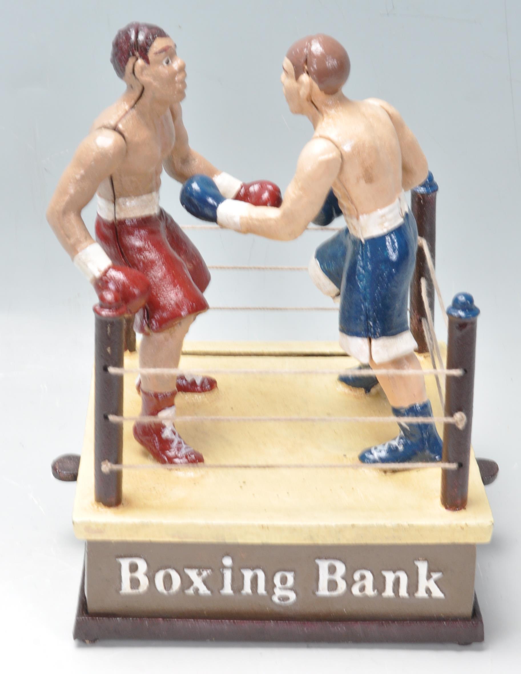 VINTAGE STYLE CAST IRON MONEY BOX - Image 4 of 5