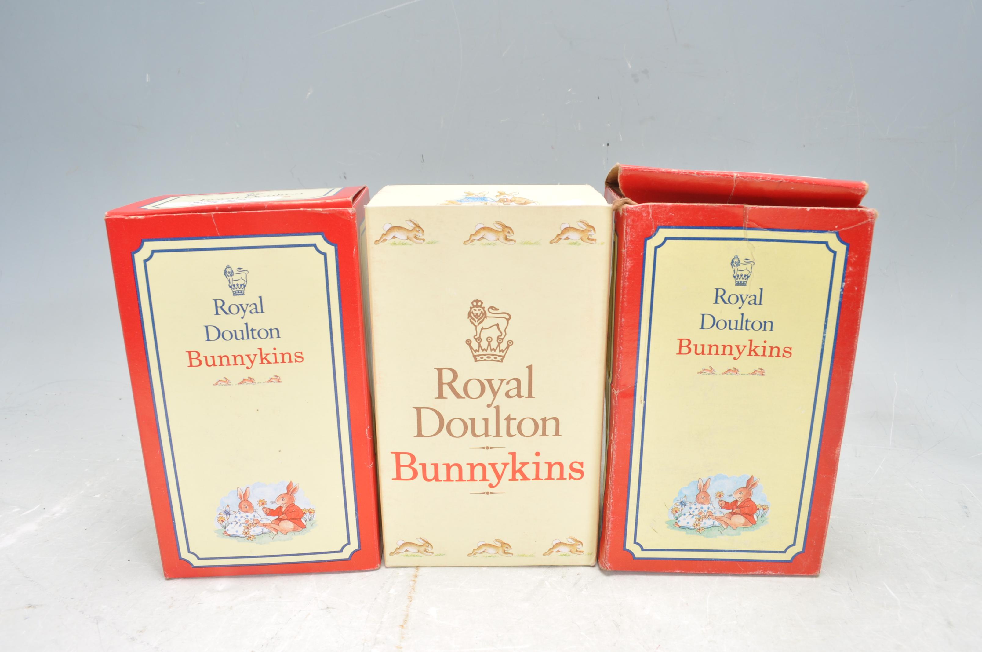 THREE ROYAL DOULTON BUNNYKINS FIGURES. - Image 6 of 6