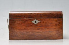 19TH CENTURY VICTORIAN ROSEWOOD TEA CADDY BOX