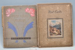 TWO POSTCARDS ALBUMS FROM EARLY 20TH CENTURY TO MID 20TH CENTURY