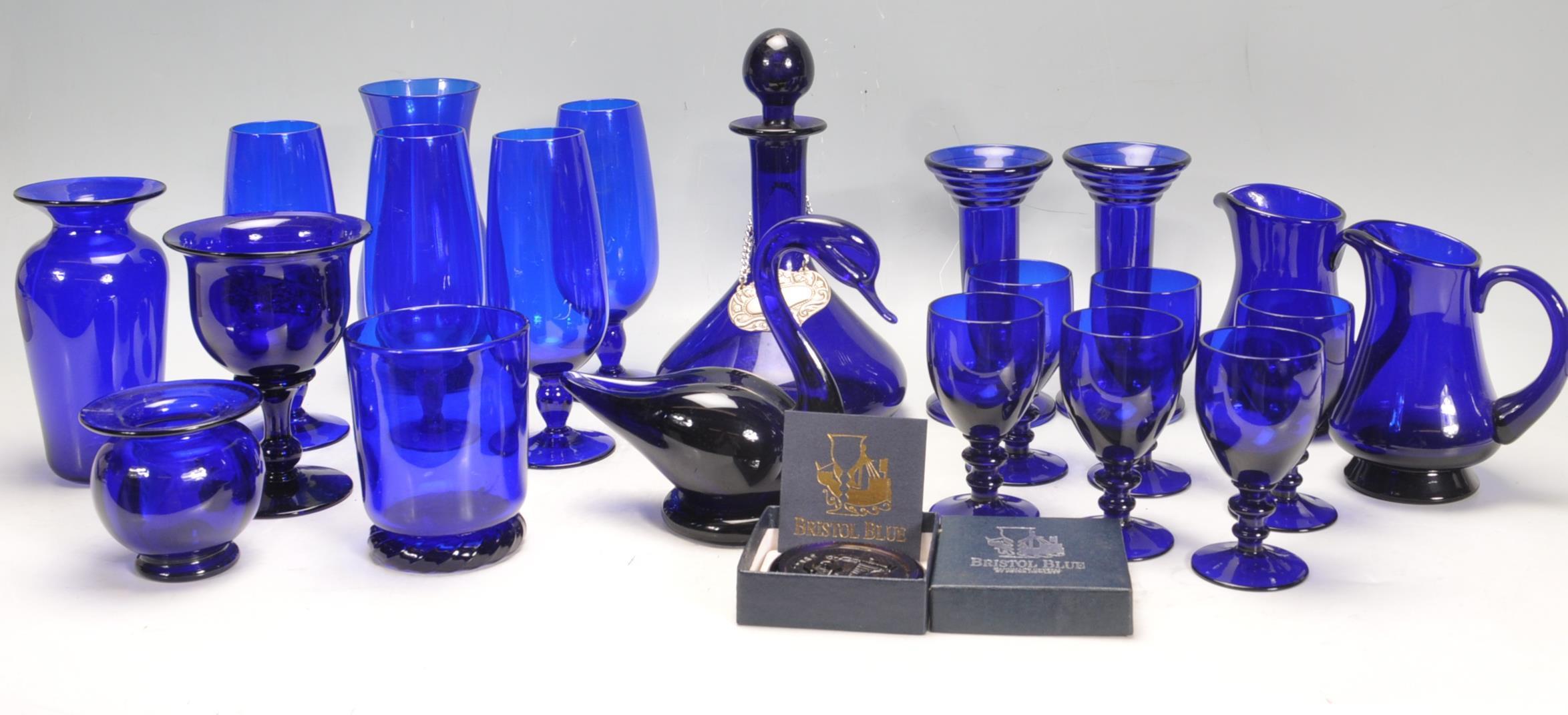 BRISTOL BLUE GLASS ORNAMENTS