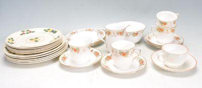 VINTAGE SHELLY TEA SET AND ADAMS PLATES