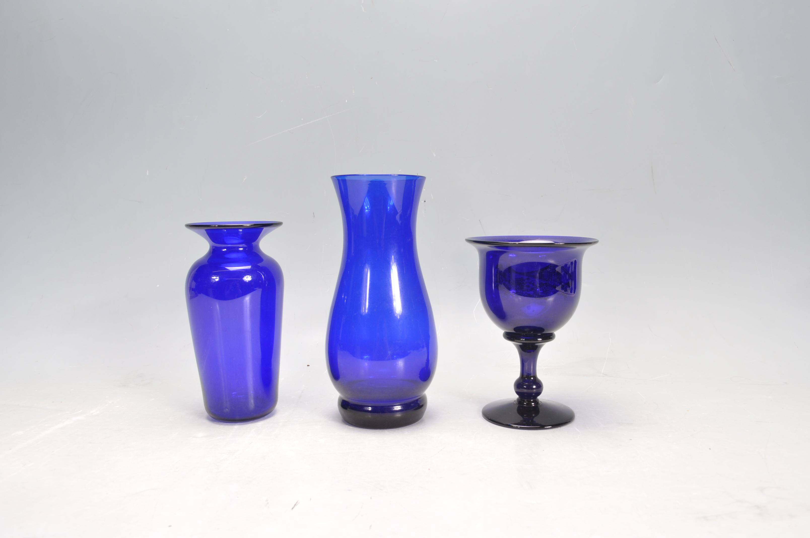 BRISTOL BLUE GLASS ORNAMENTS - Image 11 of 34