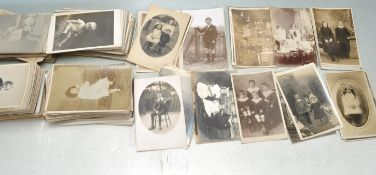 POSTCARDS - LARGE COLLECTION OF REAL PHOTOGRAPHIC CARDS