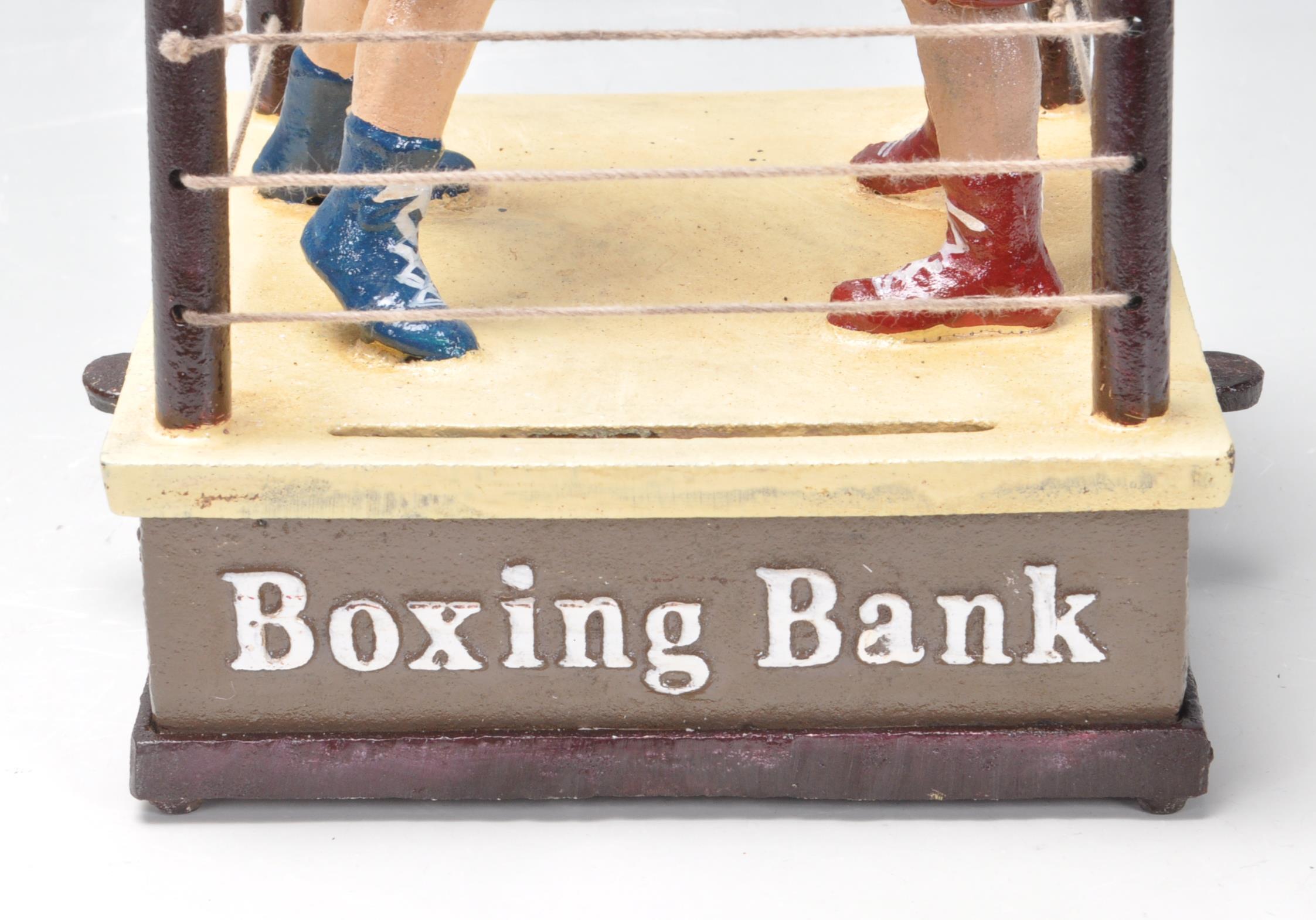VINTAGE STYLE CAST IRON MONEY BOX - Image 2 of 5
