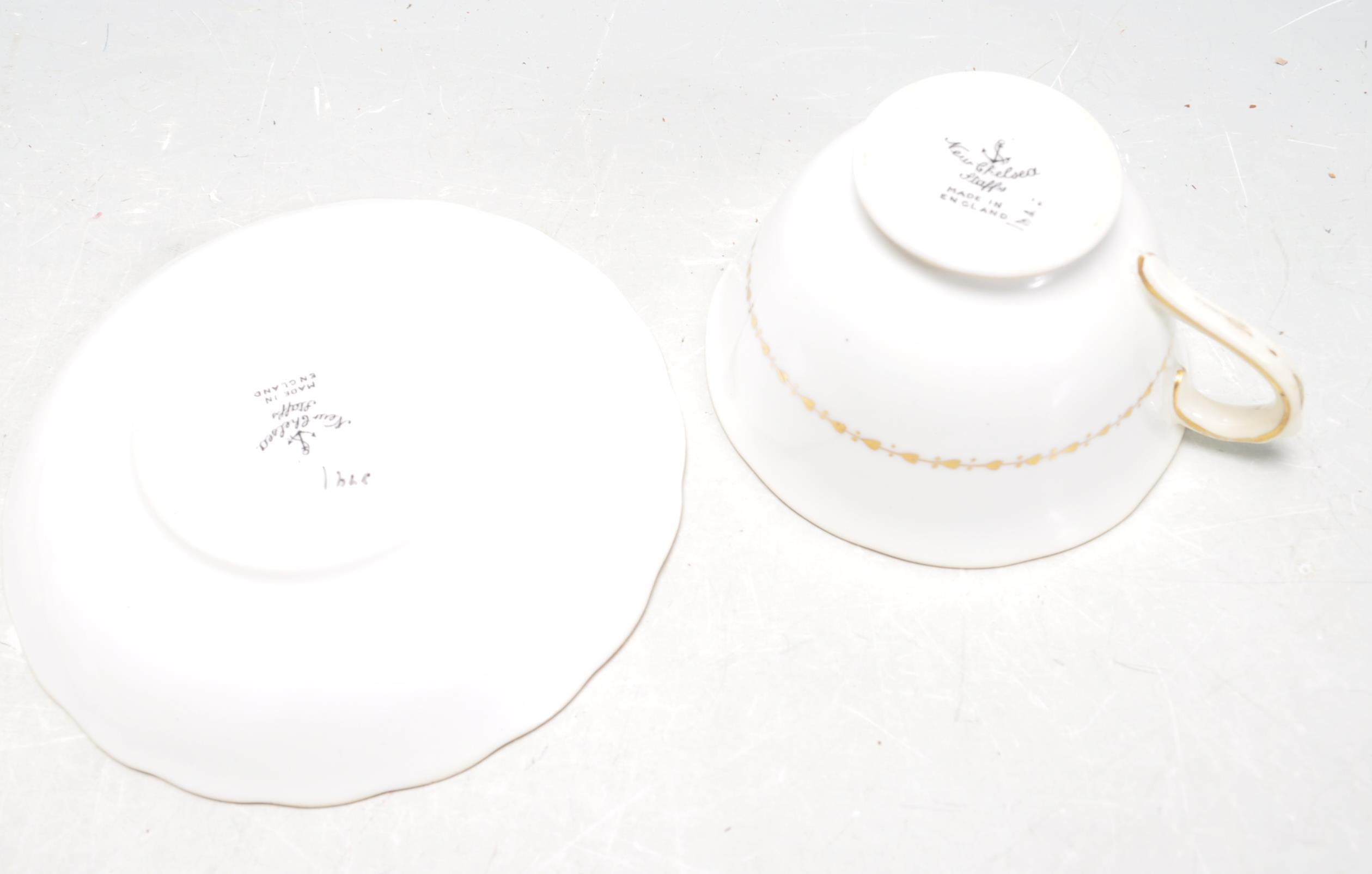 COLLECTION OF NEW CHELSEA STAFFORDSHIRE TEA SERVICE. - Image 4 of 4