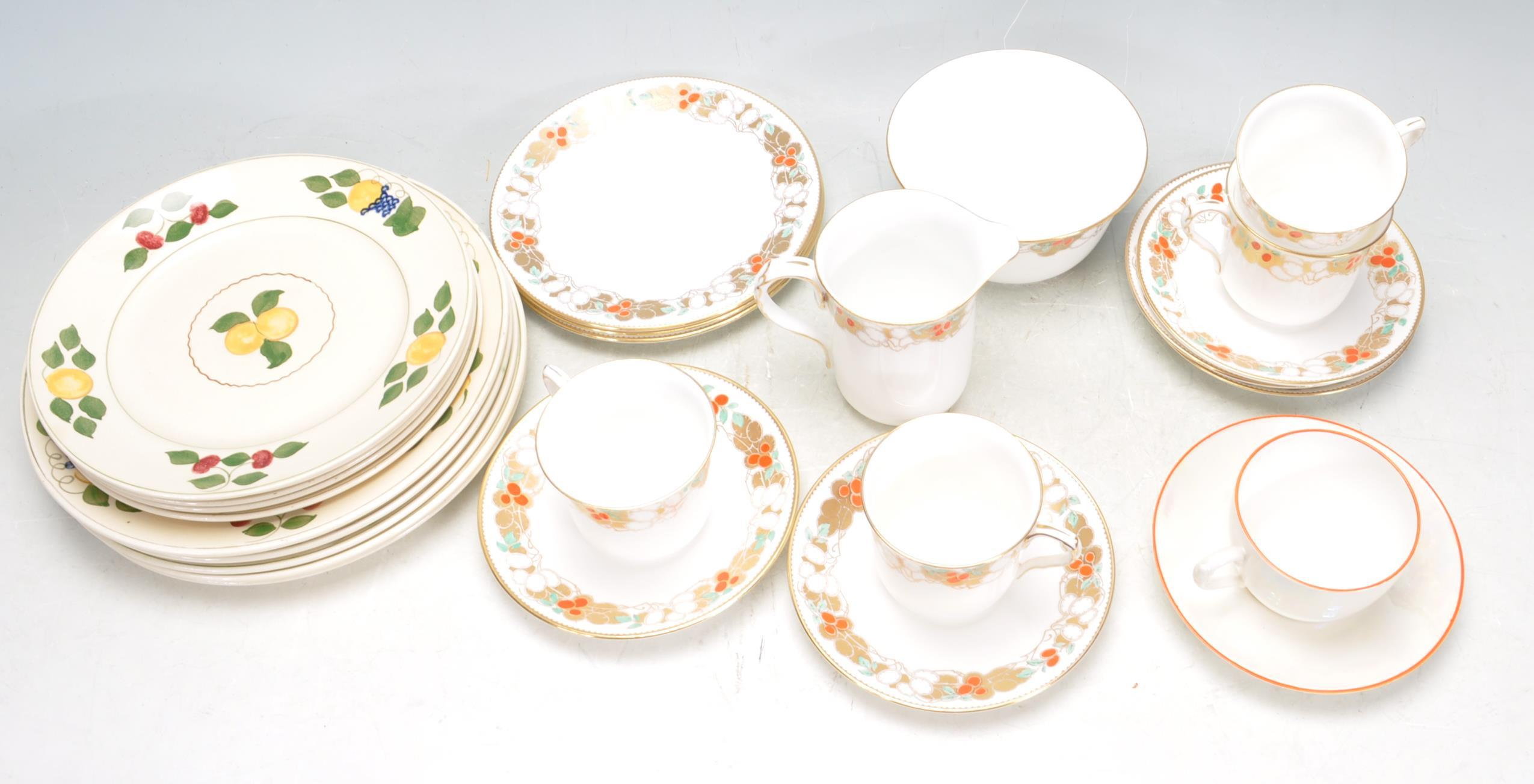 VINTAGE SHELLY TEA SET AND ADAMS PLATES - Image 2 of 14