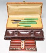 EARLY 20TH CENTURY ART DECO BOXED WRITING SET AND MORE