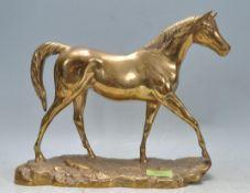 VINTAGE 20TH CENTURY BRASS HORSE ORNAMENT