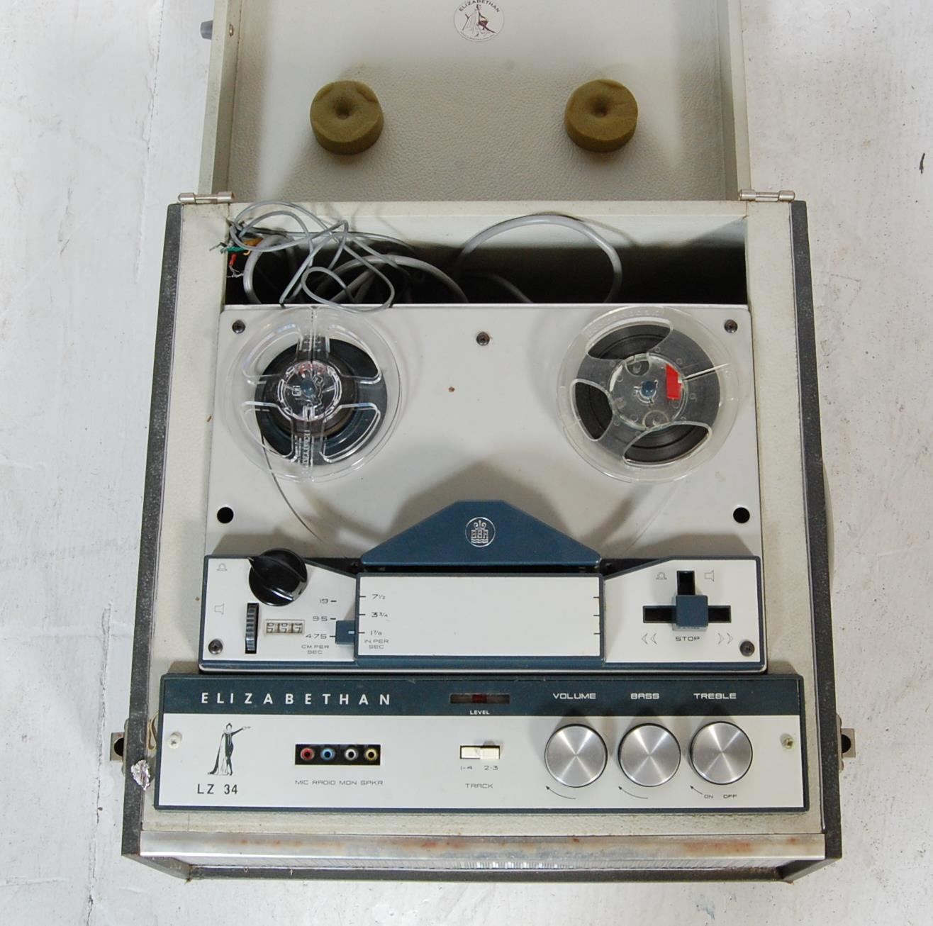 ELIZABETHAN LZ 34 REEL TO REEL PLAYER AND TAPES