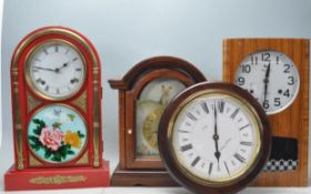 COLLECTION OF FOUR VINTAGE 20TH CENTURY CLOCKS