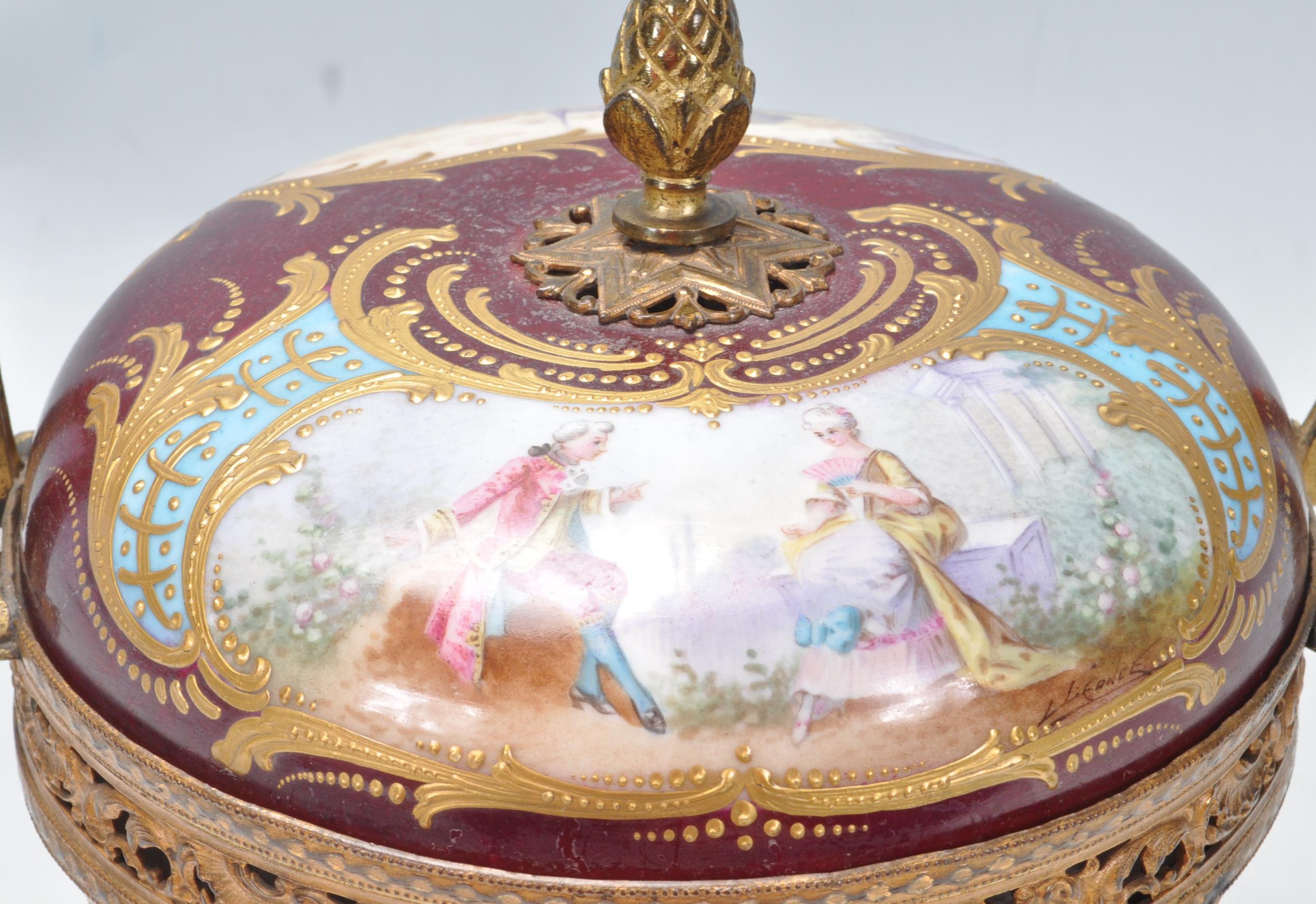 19TH CENTURY LOUIS PHILIPPE SEVRES PORCELAIN POT POURRI - Image 2 of 8