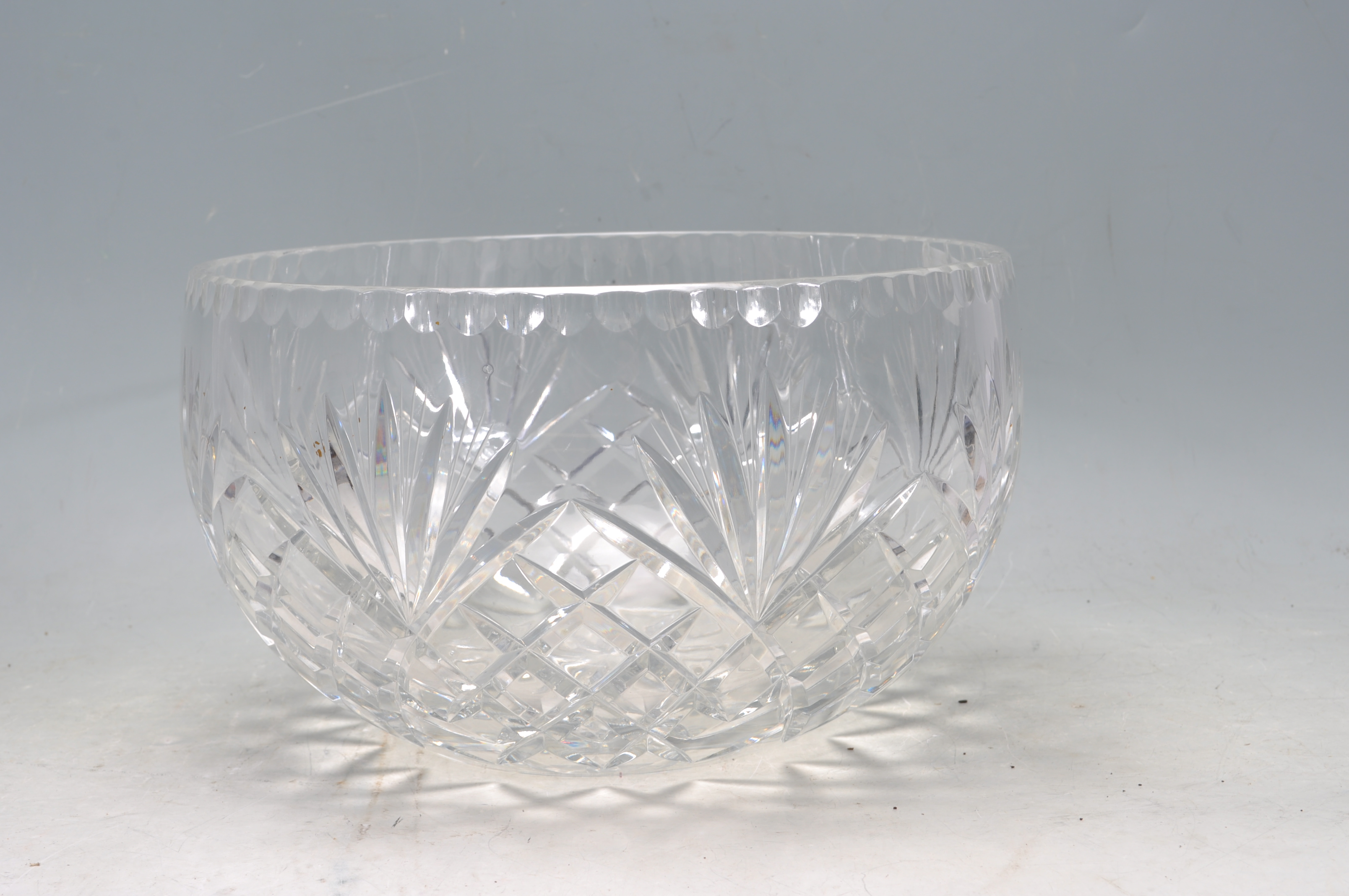 VINTAGE 20TH CENTURY WATERFORD CRYSTAL GLASS BOWL - Image 2 of 5