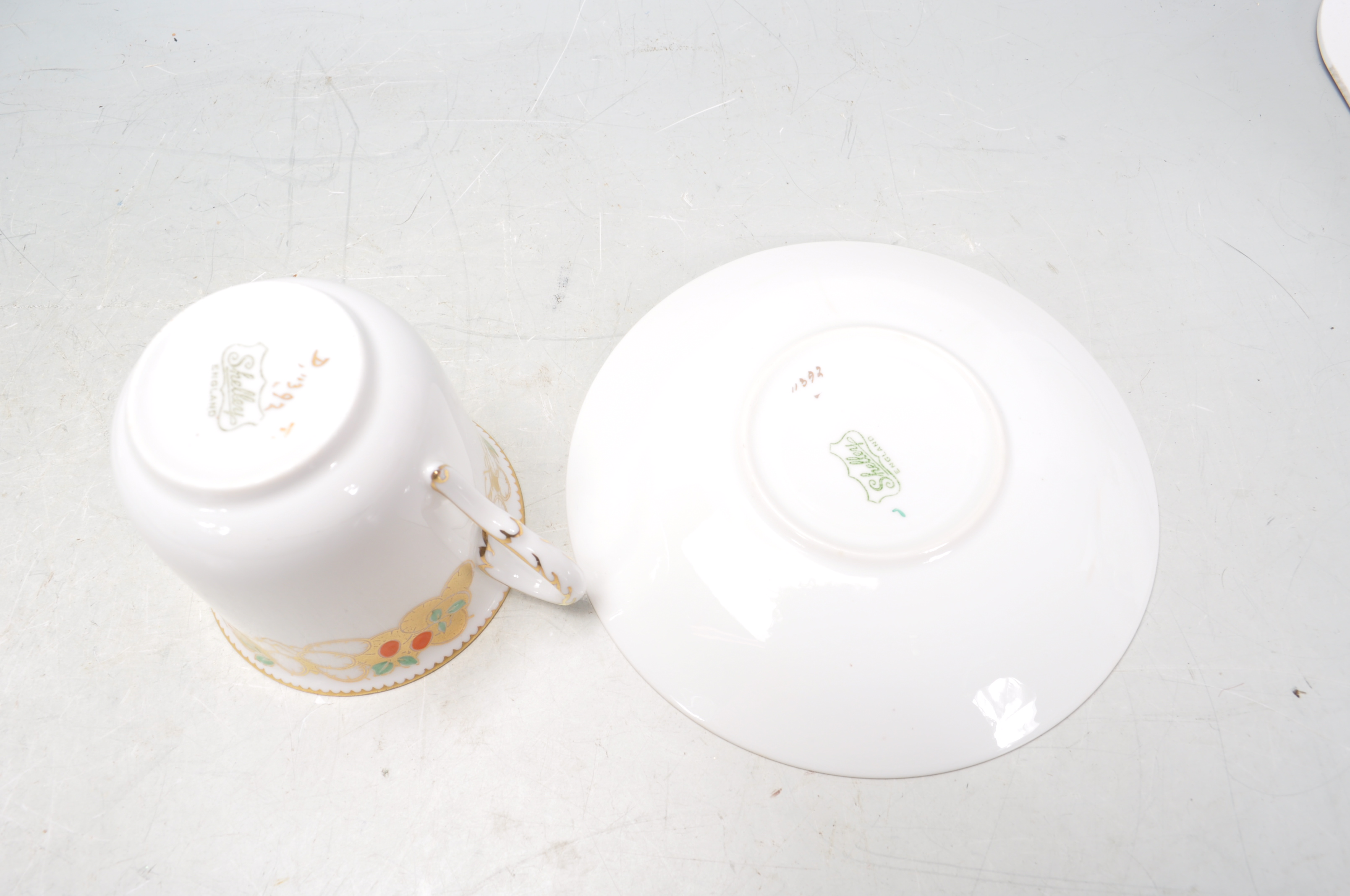 VINTAGE SHELLY TEA SET AND ADAMS PLATES - Image 6 of 14